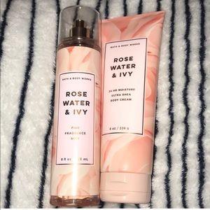 Rose water & ivy bundle